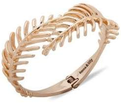 lonna & lilly Leaf Goldtone & Crystal Cuff Bracelet