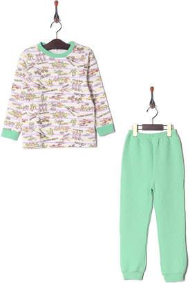 Kid's Pajama & More グリーン キルトパジャマ