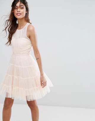 Little Mistress Tulle Mini Dress in Tiers