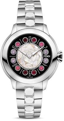 Fendi IShine Rotating Gemstones Watch, 33mm