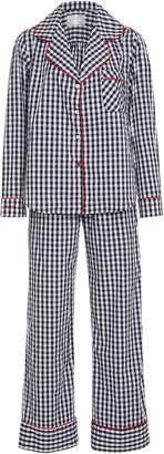 PIU Lifestyle Monogram The Daniella Long Cotton Pajama Set