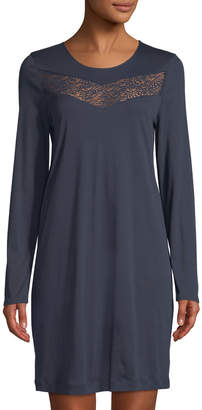 Hanro Liv Long-Sleeve Short Nightgown