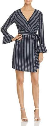 Vero Moda Nicky Striped Faux-Wrap Dress