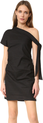 MLM LABEL Asymmetrical Tie Dress $165 thestylecure.com