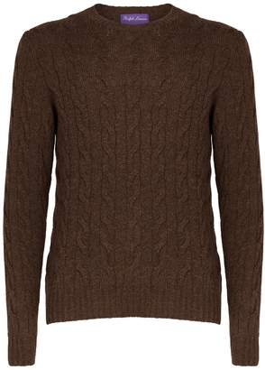 Ralph Lauren Purple Label Cashmere Cable-Knit Sweater