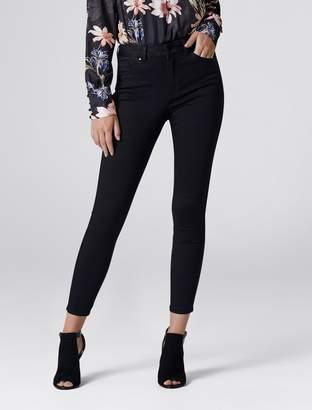 Forever New Poppy Mid Rise Ankle Grazer Jeans - Black Power Stretch - 04L32