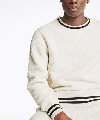 Todd Snyder + Champion Polartec Sherpa Crewneck Sweatshirt in Cream