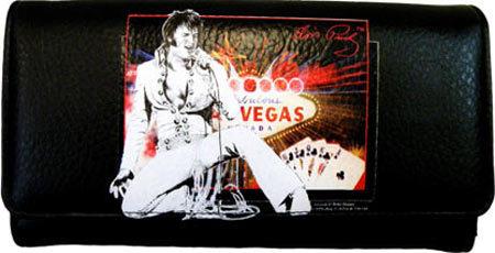 Women's Elvis Presley Signature Product Elvis Presley Checkbook Wallet EL3810