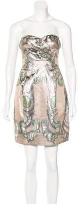 Matthew Williamson Strapless Metallic Dress
