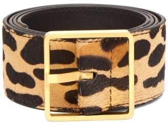 Rochas Leopard Print Calf Hair Belt - Womens - Leopard