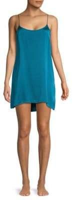 High-Low Silk Slip Dress