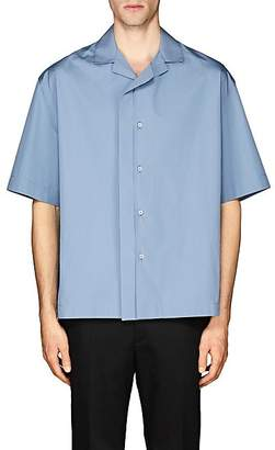 Jil Sander Men's Bowling Shirt - Blue