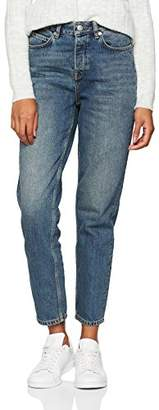 Selected Women's Slffrida Hw Mom Mid Jeans Noos W Straight Medium Blue Denim, W29/L32