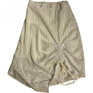 Clu White Cotton Skirt for Women
