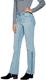 Peace Love World Boot Cut Denim Jeans with SideZip Detail