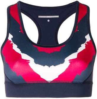 Tommy Hilfiger colour block sports bra