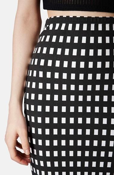 Topshop Gingham Tube Skirt