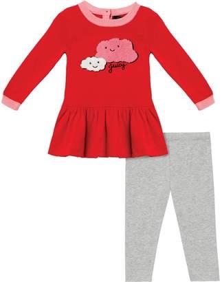 Juicy Couture Cloud Appliqué Dress & Legging Set for Baby