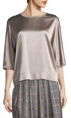 Peserico Silk Elbow Sleeve Top