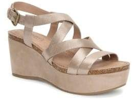 Me Too Bria Wedge Leather Sandals