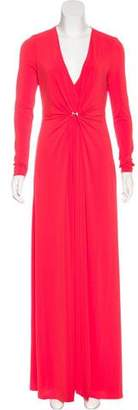 Halston Draped Evening Dress
