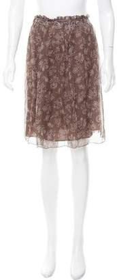 Philosophy di Alberta Ferretti Printed Silk Skirt