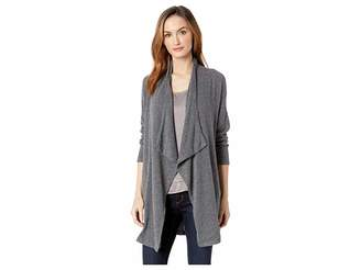 Mod-o-doc So Soft Sweater Knit Long Line Cardigan with Patch Pockets