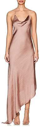 Juan Carlos Obando Women's Washed Satin Backless Gown