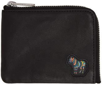 Paul Smith Black Zebra Logo Zip Wallet