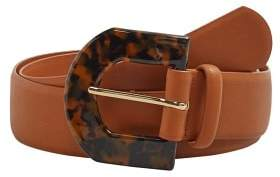 Violeta BY MANGO Tortoiseshell buckle belt