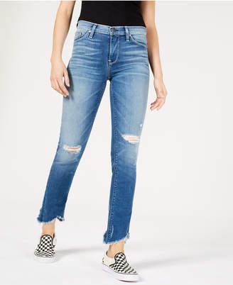 Hudson Jeans Nico Ripped Raw-Hem Jeans