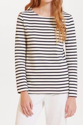 petit bateau Striped Cotton Top $96 thestylecure.com