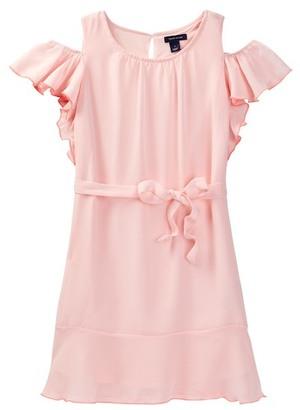 Tommy Hilfiger Ruffle Cold Shoulder Dress (Big Girls) $54.50 thestylecure.com