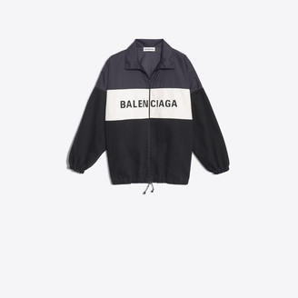 Balenciaga Nylon Logo Denim Jacket