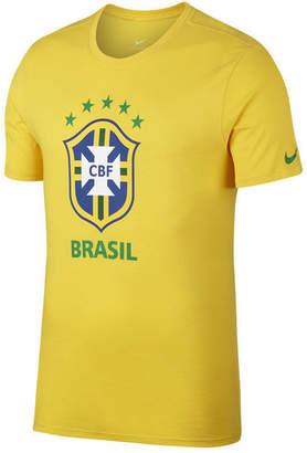 Nike Men Brazil National Team Crest T-Shirt