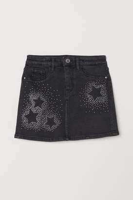 H&M Skirt with Rhinestones - Black