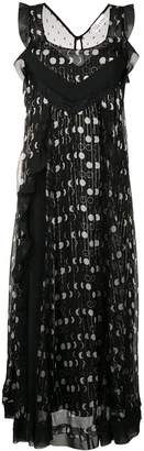 RED Valentino striped dotted maxi dress