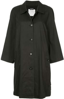 Chanel Pre-Owned minimalist midi trench coat