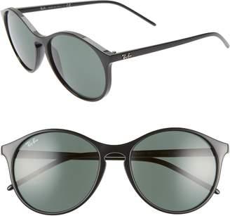 Ray-Ban Highstreet 55mm Round Sunglasses