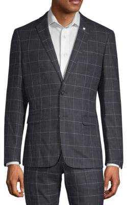 Extra Slim Fit Windowpane Sportcoat