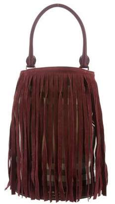 Burberry House Check Fringe Bucket Bag