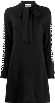 Moschino bow neck knitted dress