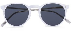 Oliver Peoples Round-Frame Coated Metal And Tortoiseshell Acetate Sunglasses