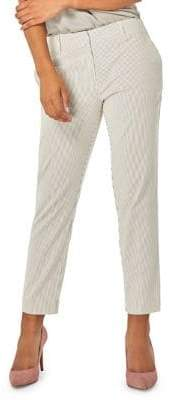 Dorothy Perkins Striped Ankle Grazer Tailored-Fit Trousers