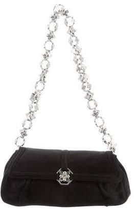 Judith Leiber Crystal-Embellished Satin Shoulder Bag