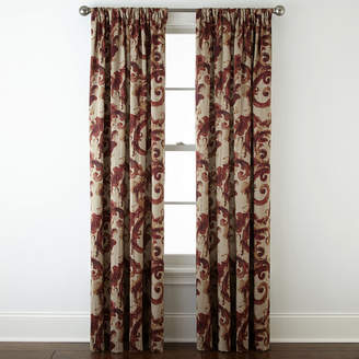 Home ExpressionsTM Tuscany Scroll Room-Darkening Rod-Pocket Curtain Panel