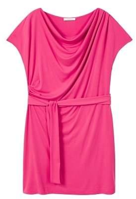 Violeta BY MANGO Draped neckline dress