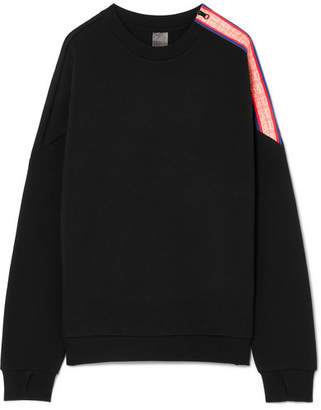 P.E Nation Major Win Oversized Zip-detailed Stretch-neoprene Sweatshirt - Black