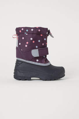 H&M Fleece-lined Boots - Purple