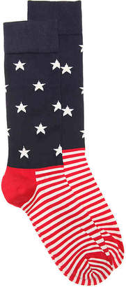 Happy Socks Stars & Stripes Crew Socks - Men's
